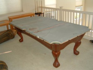 Proper pool table installation is done from the ground up